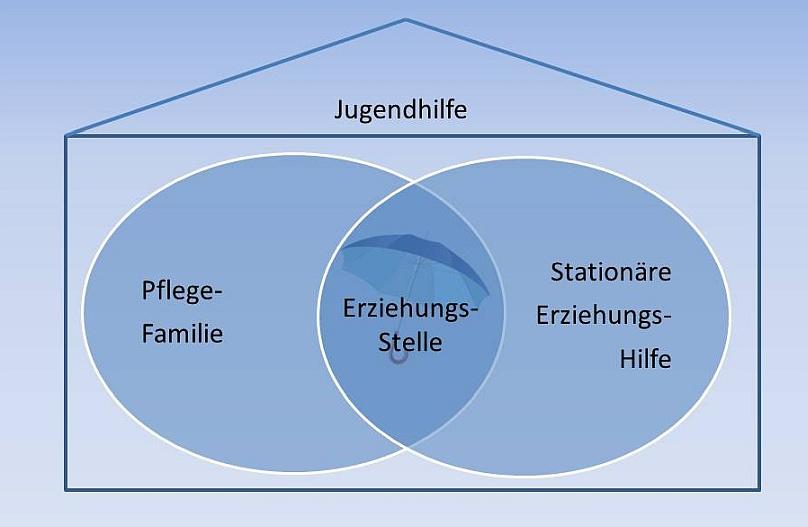 Abgrenzung Pflegefamilie, Erziehungsstelle im System der Jugendhilfe